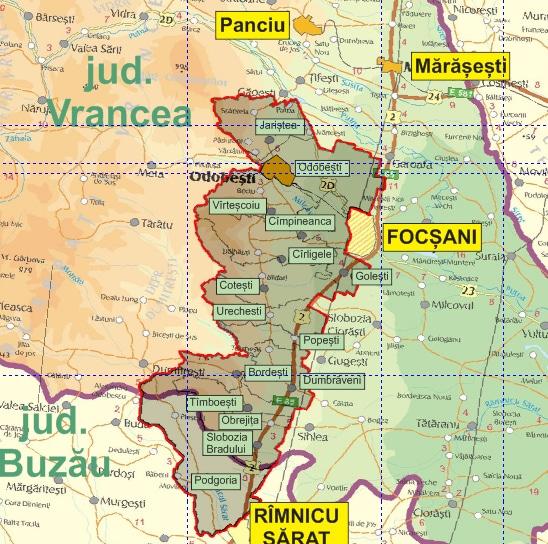 Harta Teritoriului Grupul De Acțiune Locală Gal ținutul Viei
